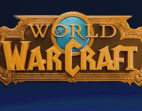 World of Warcraft logo wow 3D print