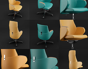 3D model work Modern leather office chair