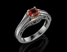 Ring gems elegant 3D print model