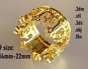 3D printable model king Crown Ring