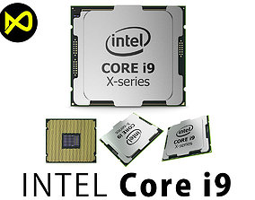 3D model Intel Core i9 X-series Processor