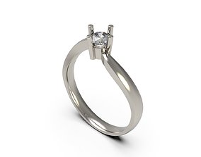 3D printable model Woman Solitaire Ring 77