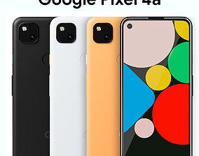 Google Pixel 4a 3D model