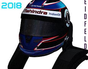Heidfeld helmet 2017 2018 3D model