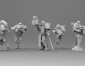 3D print model Knight of Roma - Veterans with Combi Rifles