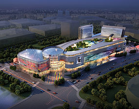 3D architectural City Shopping Mall
