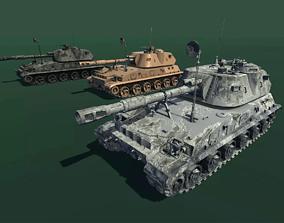 3D asset low-poly ArtilleryMount