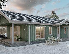 Lumion 10 scandinavian house scene 3D model