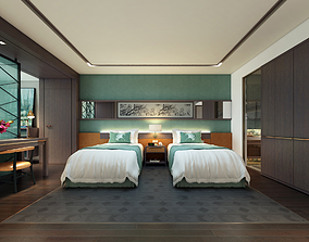 Deluxe connexting hotel room 3D model