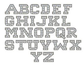 3D print model Letters A-Z