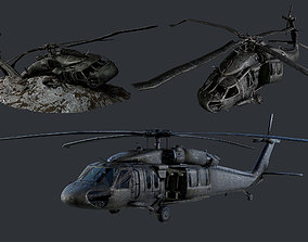 Sikorsky UH60 Black Hawk Military Helicopter 3D asset 4