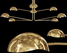 3D Restoration Hardware CONVESSI CHANDELIER ROUND 72 Brass