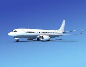 3D Boeing 737-800ER Unmarked 3