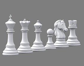 3D printable model Chess set Stauton Highpoly