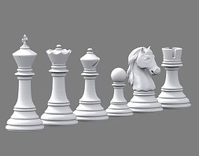 3D printable model Chess set Stauton Highpoly