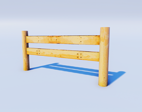 Cartoon Prop Essentials - Wooden Fence 3D model