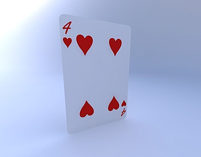 Four of Hearts 3D model