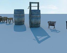 3D Medieval street assets pack