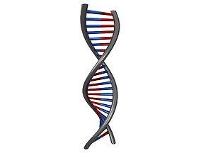 DNA Molecule v1 008 3D asset