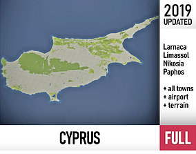 Cyprus - full country - and cities 3D