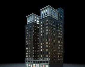 Tall City Building 3D model