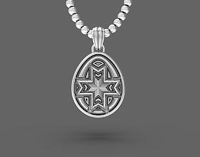 Easter egg Pisanka pendant with 3D printable model 1