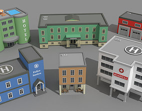 SimplePoly Buildings - Low Poly Assets 3D model