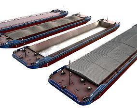 Barges 85x16 color collection 02 3D asset