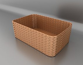 simple 3D model Wicker basket