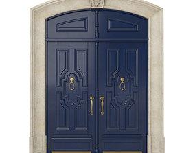 3D Entrance classic door 27