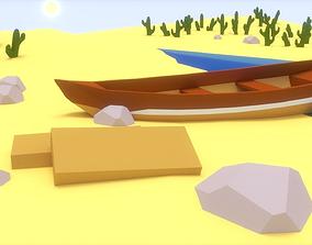 Low-Poly Boat 3D asset