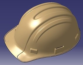 Industrial Safety Helmet 3D