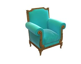 English Rolled Armchair 3D