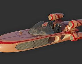 Modified Landspeeder 3D model low-poly
