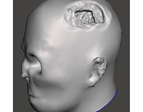 3D print model Zombie head