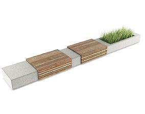 furniture MODERN BENCH 3D