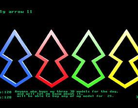 Low poly arrow 11 3D asset