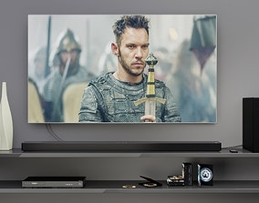 3D model LG TV set 02