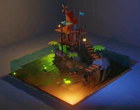 SeaShack 3D model animated