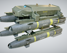 Hellfire Missile Launcher 3D