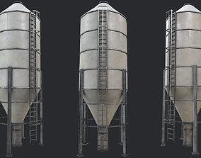 3D asset tower Farm Silo 3 PBR