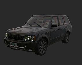 3D asset Abandoned car