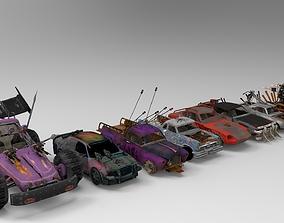 Demolition Derby Carss x 8 3D model