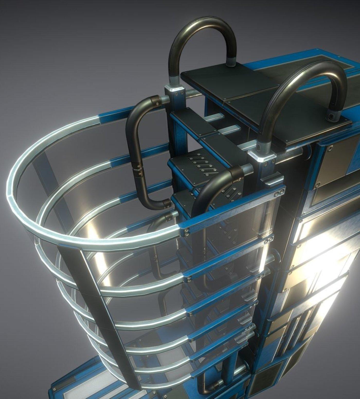 Futuristic Ladder Collection Blue Version