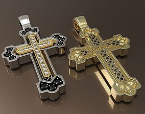 3D printable model Cross Russian with gems