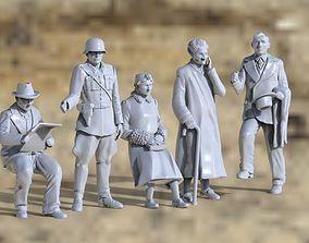 3D printable model german civilians