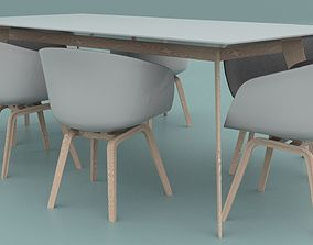 Office Table And Chairs 3D