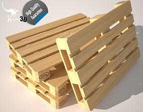 Wood Pallet EUR EPAL 3D model