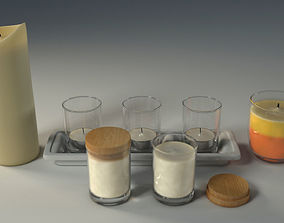 3D model rigged Candle
