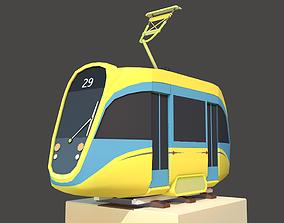 Modern Tram 3D model
